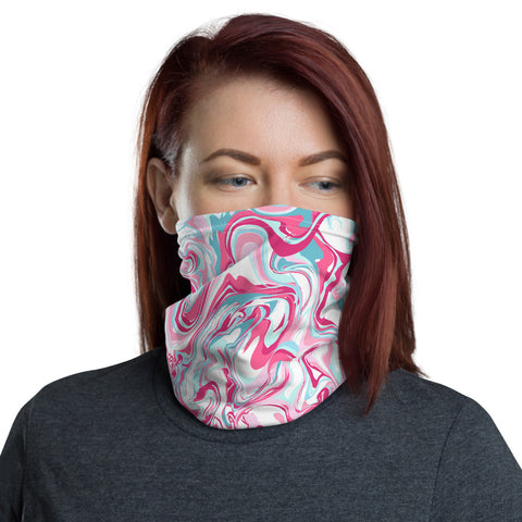 Neck Warmer/Face Cover - Pink Marble