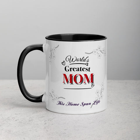 Mug with Color Inside - World's Greatest Mom