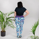 Plus Size Yoga Leggings - Purple Swirl