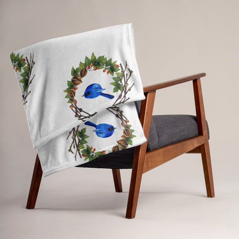 Cozy Throw Blanket - Bluebird