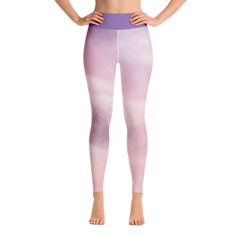 Yoga Leggings - Pink Sky
