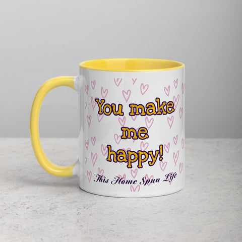 Mug with Color Inside - Happy