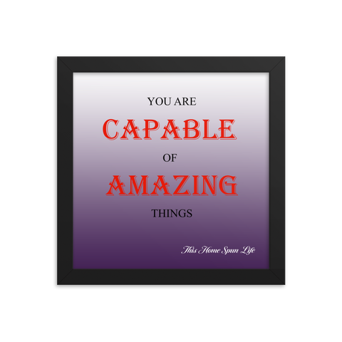 Framed Poster - Amazing Things Purple