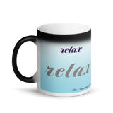 Glossy Black Magic Mug - Relax