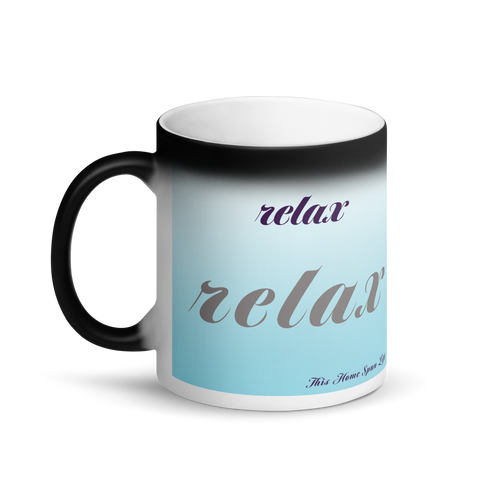 Matte Black Magic Mug - Relax