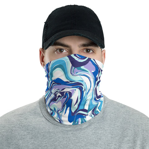 Neck Warmer/Face Cover - Blue Marble