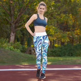 Yoga Leggings - Purple Swirl