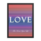 Framed Poster - Love