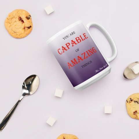Coffee Mug - Amazing Things Purple