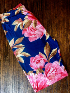 "S/M Leggings ""Floribundi/Navy"""