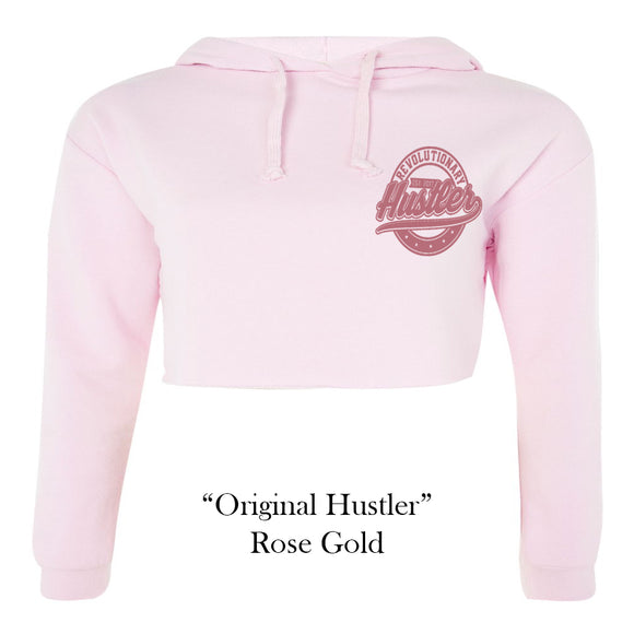 Pale Pink Crop Top Hoodie – Original