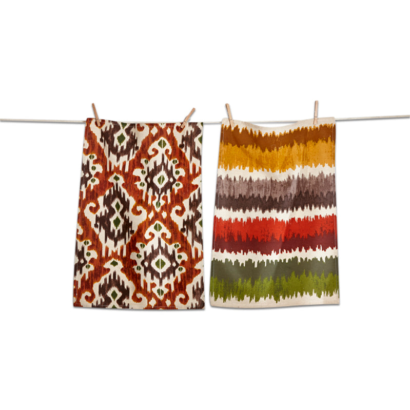 Ikat Dishtowel, Set of 2