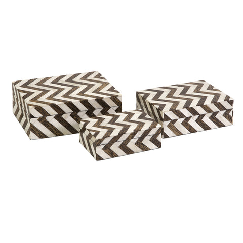 Zig-Zag Bone Inlay Box Medium