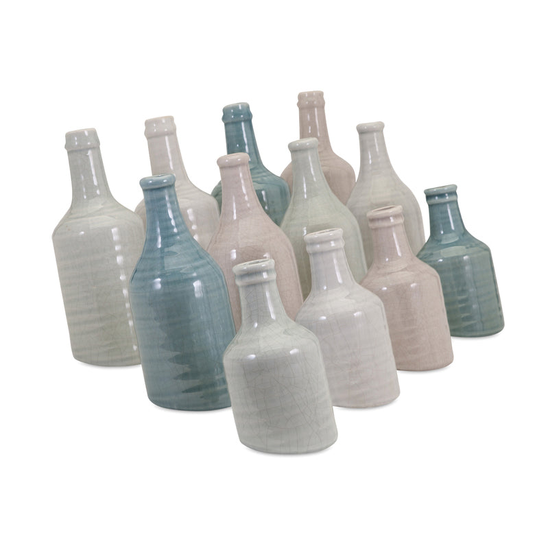Angled Ceramic Vase, Set of 3<br>+ More Color Options