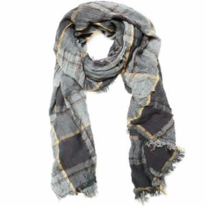 Charcoal Plaid Academy Scarf