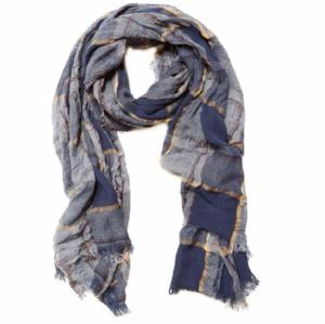 Navy Plaid Academy Scarf