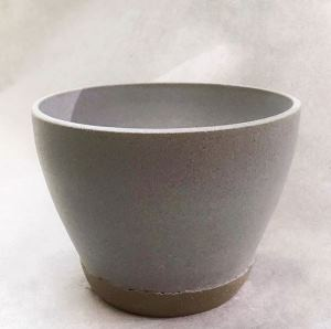 Gray Matte Ceramic Cereal Bowl