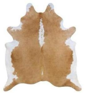 Saddleman's Large Cowhide Rug, Beige White Regular