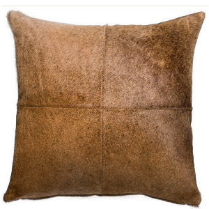 Saddlemans Cedar 4-Panel Cowhide Pillows, Set of 3