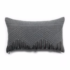 Pom Pom at Home Vintage Crochet Pillow w/ Insert, Midnight