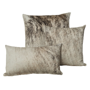 Saddlemans Light Brindled Birch Cowhide Pillow, Lumbar
