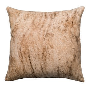 Saddlemans Light Brindled Birch Cowhide Pillow, Square