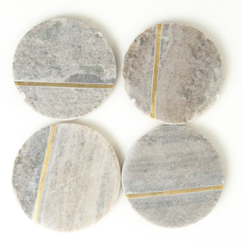 Set of 4 Aragon Marble Coasters