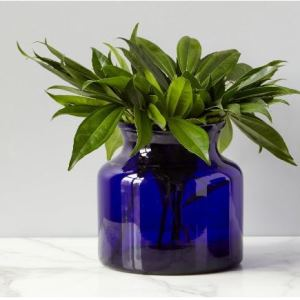 Europe2You Blue Glass Flower Vase