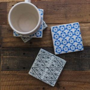 Printed Coasters, Set of 4