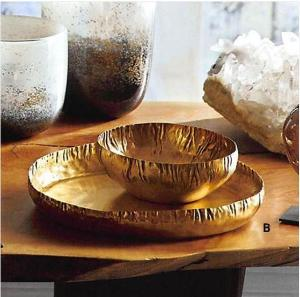 Brass Crinkle Serving Trays <br>+ multiple sizes