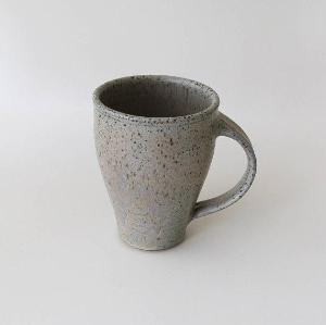 Blue Speckled Ceramic Tall Mug