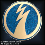 Official Ace Frehley Enamel Pin (Blue Glitter) - LIMIT ONE PER CUSTOMER - Fantasm Media