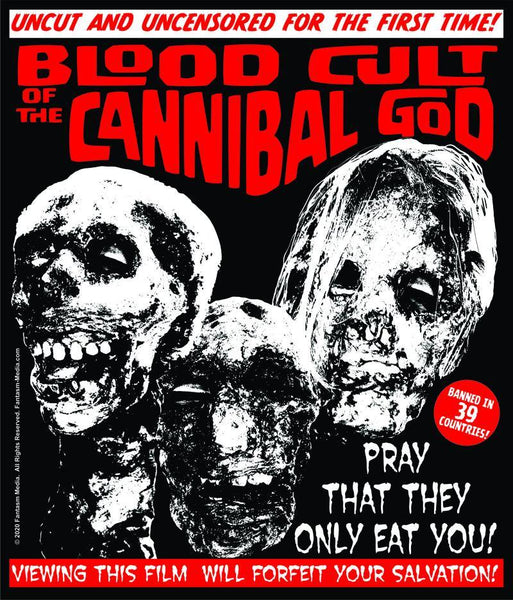 Blood Cult Of The Cannibal God t-shirt -  (XXL, XXXL) - Fantasm Media