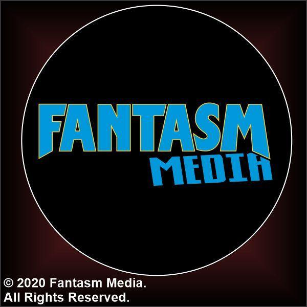 "Fantasm Media Blue logo 1.5"" Button - Fantasm Media"