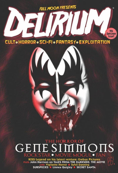 Gene Simmons - Delirium Magazine #9 (cover art and interview by Brian Steward) - Fantasm Media