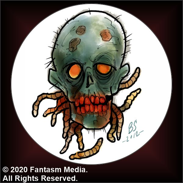 "Maggot Head 1.5"" Button - Fantasm Media"