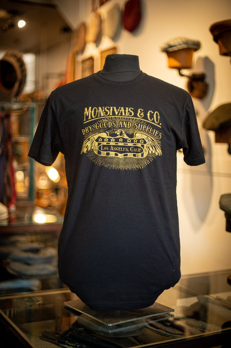 Monsivais & Co. Logo T- Shirt - Gold on Black