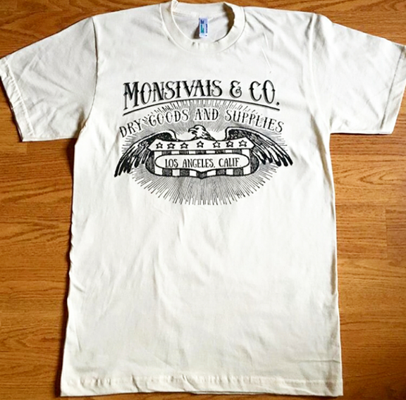 Monsivais & Co. Logo T- Shirt - Cream organic cotton