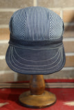 Engineer Work cap - Hickory Stripe and Denim