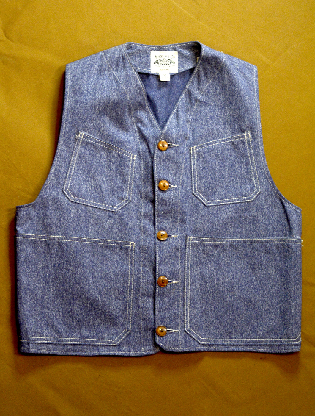 1905 Utility Vest- Blue Covert Cloth