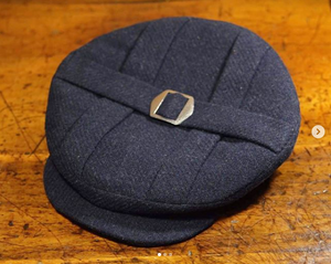 The Cooper-   1910s - 1920s Pleated Top Cap