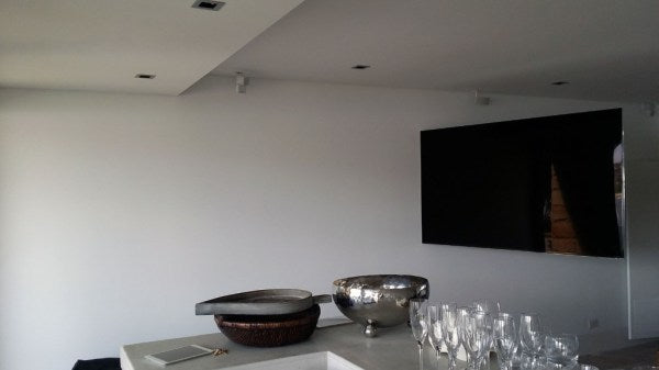 Enormous TV with enormous swivel, Watsons Bay