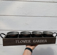 """Flower Garden"" Planter Tray"