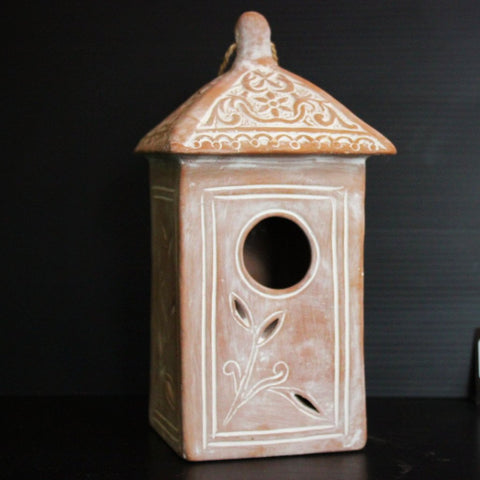 Terracotta Bird House