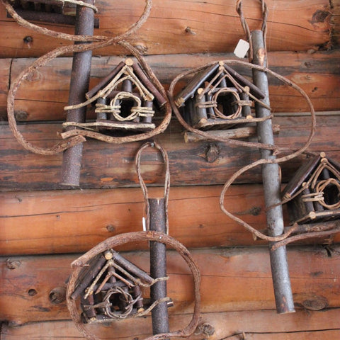 Double Wicker Birdhouse