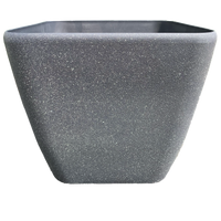 Charcoal Grey Square Planter