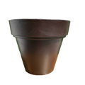 Dark Brown Plastic Pot