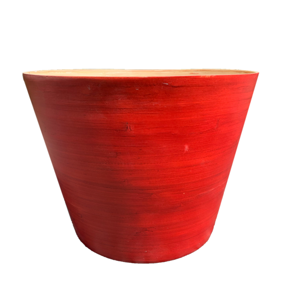 Natural Elegance Red Bamboo Pot