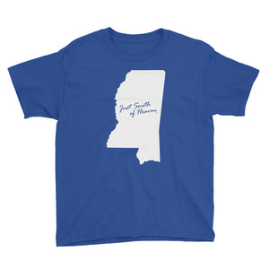 Mississippi - Just South of Heaven® Kid's Tee Shirt