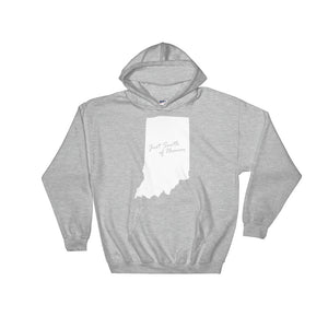 sport grey just south of heaven indiana hoodie